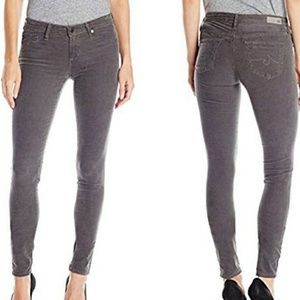 AG the legging super skinny jeans velvet pants 29